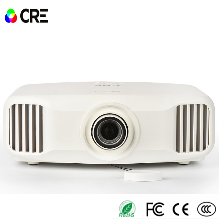 CRE X8000 Full HD 3LED 3LCD Projector Wifi Active Shutter 3D Technology Projector Support 4K Home Projector Native 2K Resolution