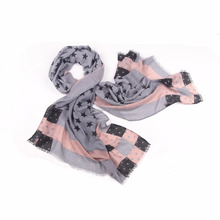 Direct Manufacturer fashion dummy Scarf Curling of voile scarf The stars pattern viscose scarf