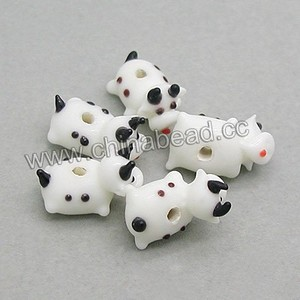 High quality handmade lampwork glass animal beads cow beads for bracelet making