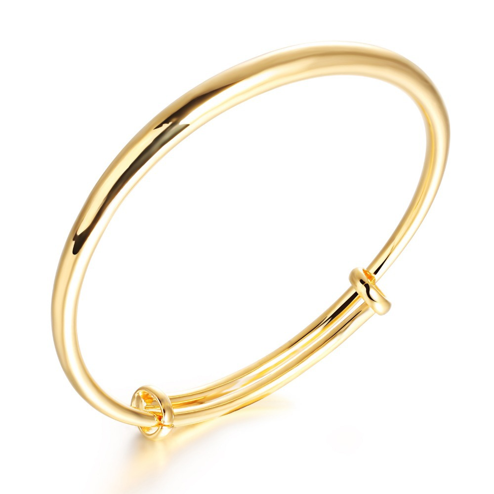 lucky solid new product yellow ring bangle band gold handmade size bracelet bangles elephant