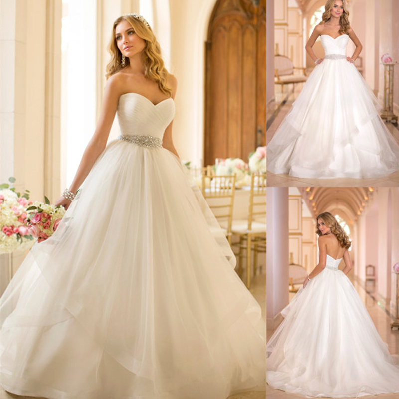 20 Elegant Simple Wedding Dresses Of 2015: New Simple Elegant Ball Gown Wedding Dresses 2015