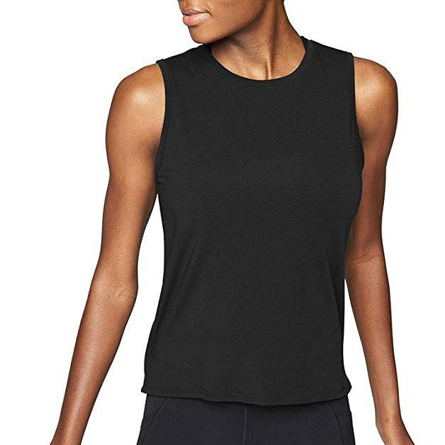 Sexy Women Plain Open Back Yoga Crop Tops Workout Clothes Active Sleeveless Shirt Running Tank Tops