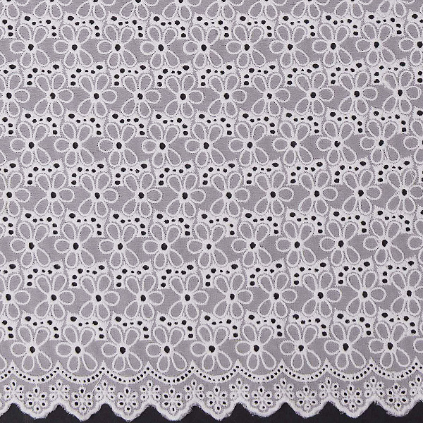 New Design Organic Cotton Lace Fabric by the yard