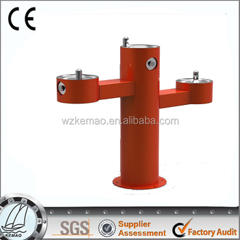 large outdoor drinking fountain, water fountain