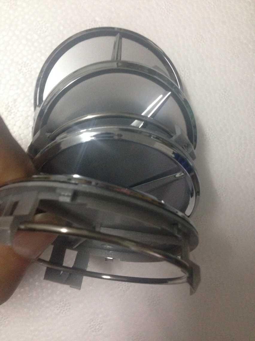 4 шт 75 мм серебро Hub кепка крышка автомобиль Logo эмблема хром колесо центр три - star A B C CLA CLS G M R S центр кепка