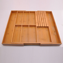Bamboo Extendable Drawer Organizer Bamboo Tray Bamboo Kitchen Cutlery Tray