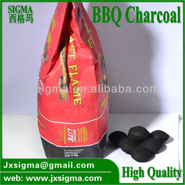 pillow shape bbq charcoal