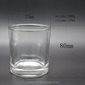 hot sale customized polished sprayed glass candle jars candle holders candle stick