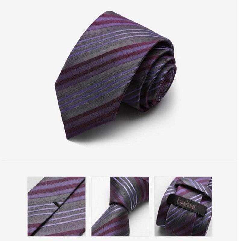 7d1e06c4ac4 Get Quotations · 2015 New Arrivals Fashion Neckties 7CM Slim Ties for Men  Casual Srtiped Necktie Purple Mens Ties