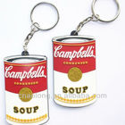Xmas gifts custom made soft pvc plastic 3d keychain/rubber key chains with own embossed logo