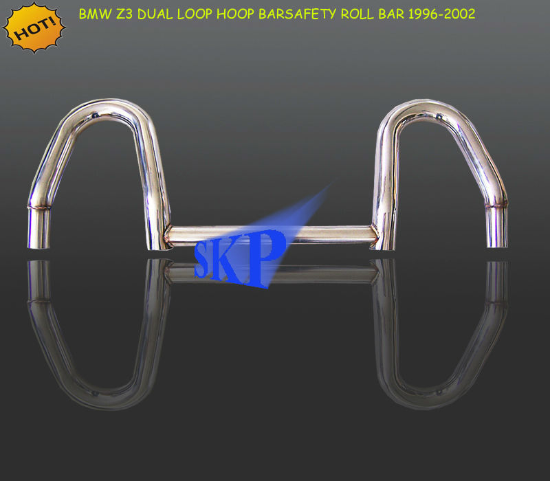 4-Point Stainless Steel Polish Dual Twin Hoop Safety Roll Bar for BMW 96-02 Z3