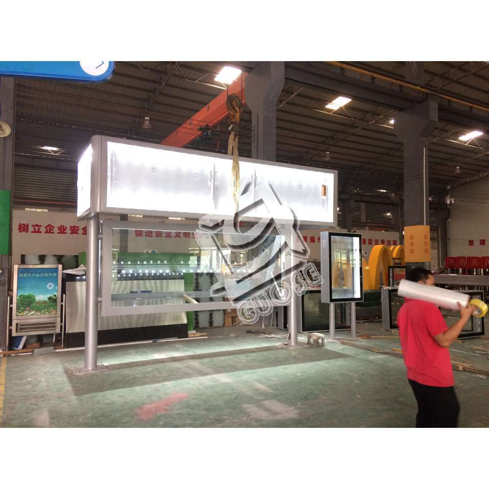 metal stop energy advertising solar bus shelter