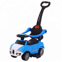PP safety material cheap price baby swing car with push bar for small kids