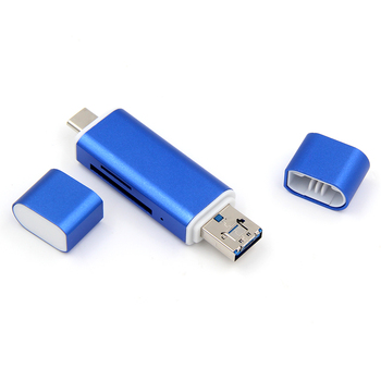 Smart Sd Card Reader Writer Micro Usb Sd/Tf Type C Micro Usb Otg All In One Usb 2.0 Card Reader
