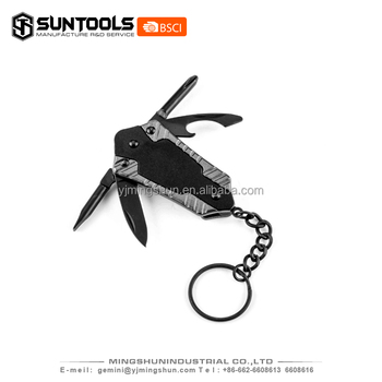 4 in 1 Promitional Small multi keychain for gift
