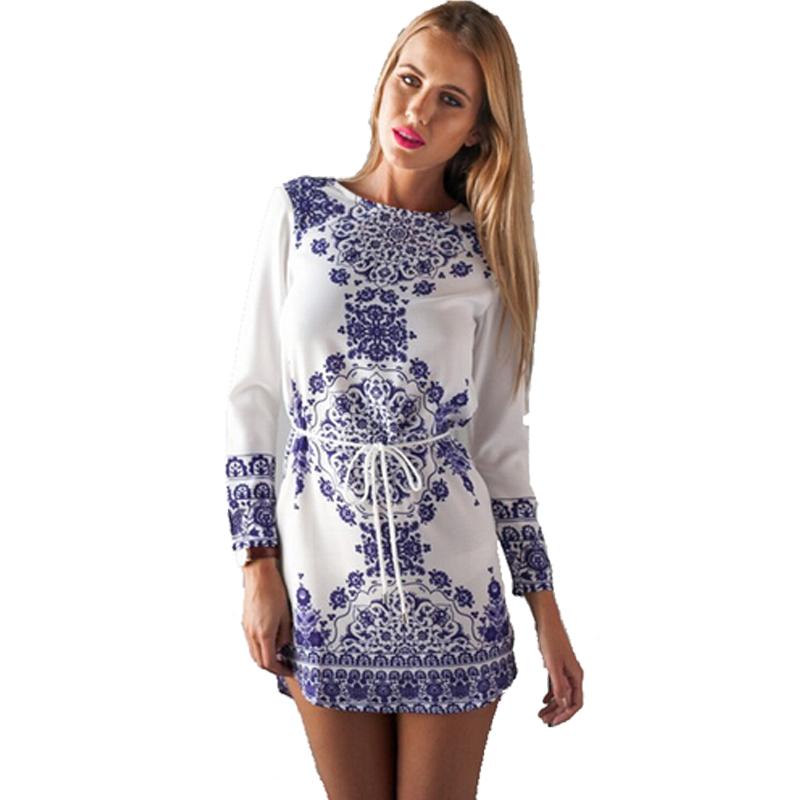 Amrzs Summer Dress 2016 Hot Sale Print O Neck Casual Women ...