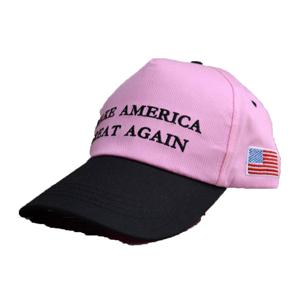 54541407669 Make America Great Again Hat Donald Trump 2016 Republican Adjustable  Baseball Cap Unisex-Adult Pink