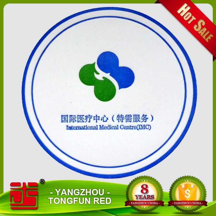 Coasters custom paper logo shopping