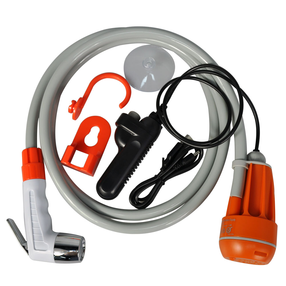 Outdoor Mobile Shattaf Sprayer Water Pump Portable Pressure Travel Shower Kit For Camping Hiking Travel фото