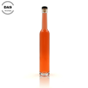 375 ml Round Clear Glass Ice Wine Bottle With Bar Top Neck Finish