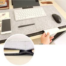 New Fashion Durable Computer Desk Mat Modern Table Felt Office Desk Mat Mouse Pad Pen Holder