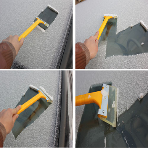 Автомобиль длинной ручкой для очистки скребок снег лопатой говядины сухожилие пластиковые зимой использования