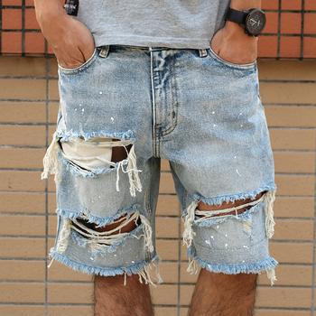 86740cee2781d7 Nova Moda Lazer Mens Rasgado Jeans Curto Roupas De Marca Verão Shorts  Respirável Rasgando Shorts Jeans Masculinos - Buy Venda Quente Curto Denim  ...