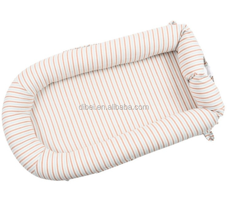 Baby Lounger for Bed Portable Baby Nest for Newborn Baby 0-3 Years Old Gray