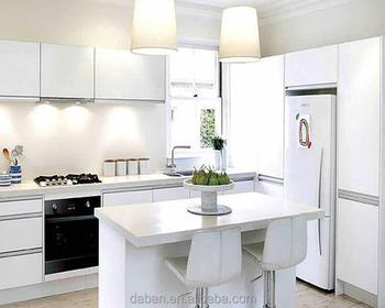 2016 Hot Menjual Gloss Tinggi Kayu Lapis Dapur Kabinet U Dengan Selesai Kitchen Hardware