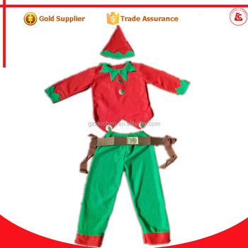 custom made white christmas costumes cosplay party elf costume for kids - White Christmas Costumes