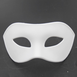 PoeticExst masquerade ball freehand sketching white hip-hop DIY paint plastic mask