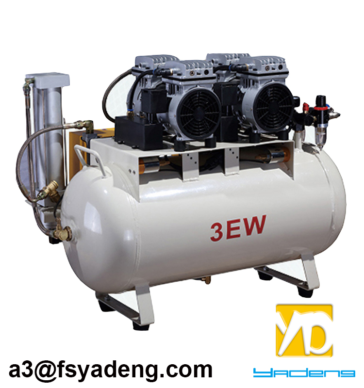 YD-3EW 60L 1000W Oilless Silent Dental Oilfree Air Compressor