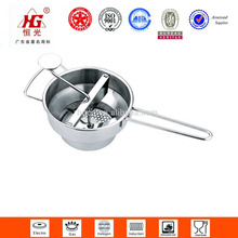 functional stainless steel patato and rice masher