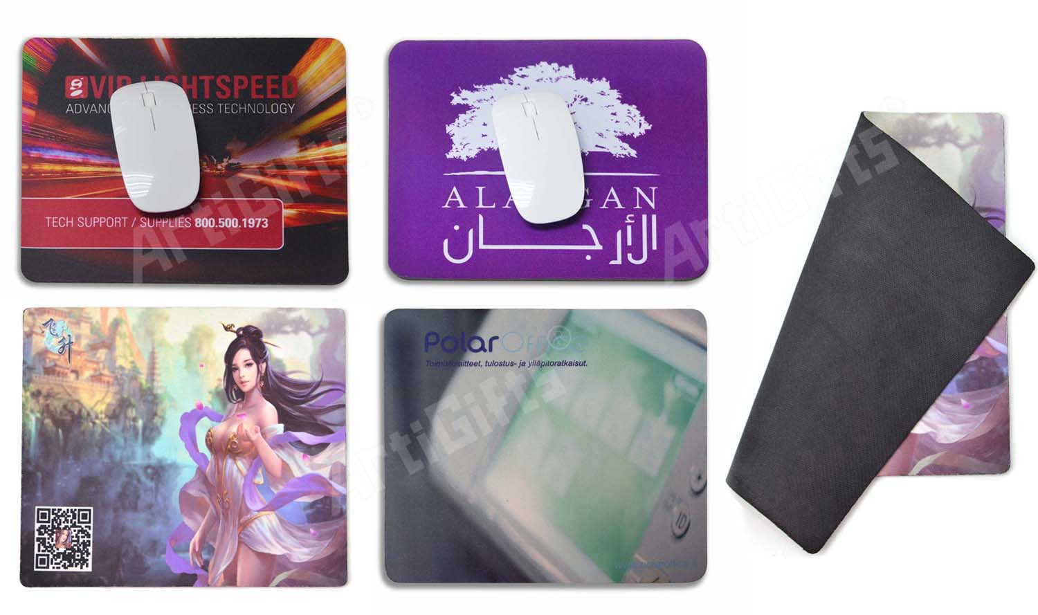 Promotional sublimation printed rubber and cloth gel sex girl custom gaming mouse pad