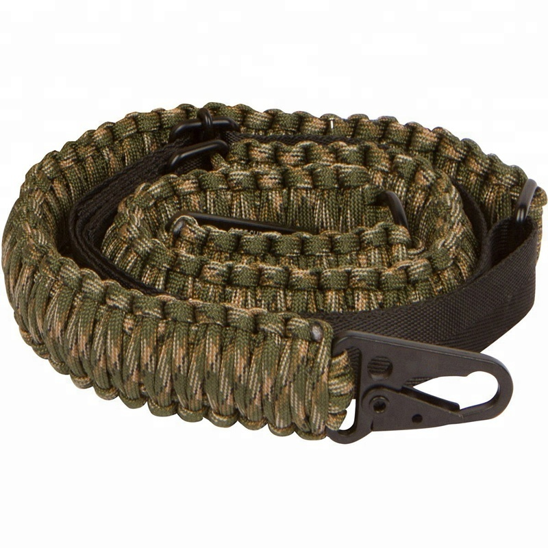 Outdoor Military 2 Point Paracord Gun Sling With QD Sling emergency service Gun Belt Tactical nylon Rifle Sling For Hunting фото