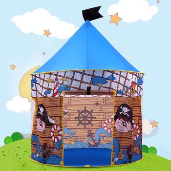 Garçon De Pirate Bleu Château Jouer Tente Pour Enfants-en Plein ...
