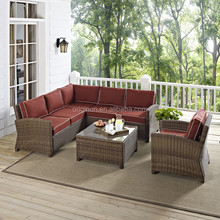sectional love seat and armchairs high quality round rattan resort outdoor furniture