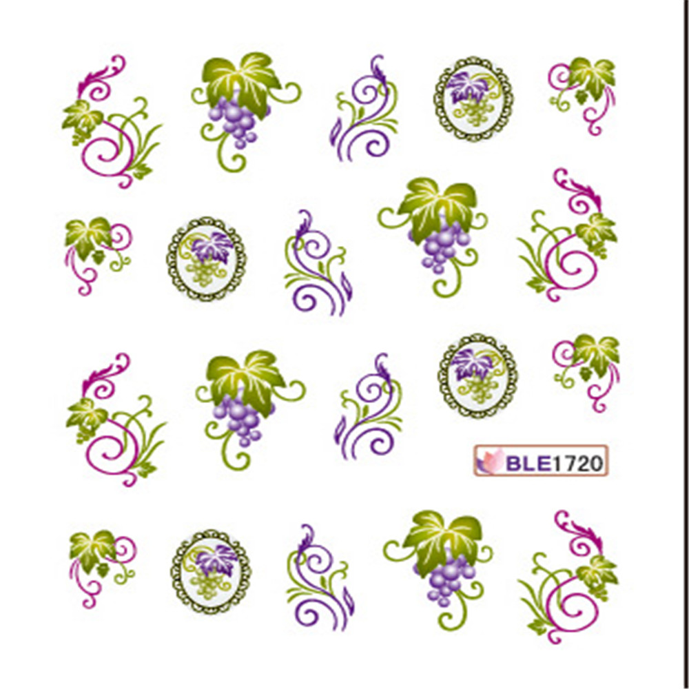 Popular water nail sticker/Loveliness flower nail design/Laster water nail tattoo, Colorful