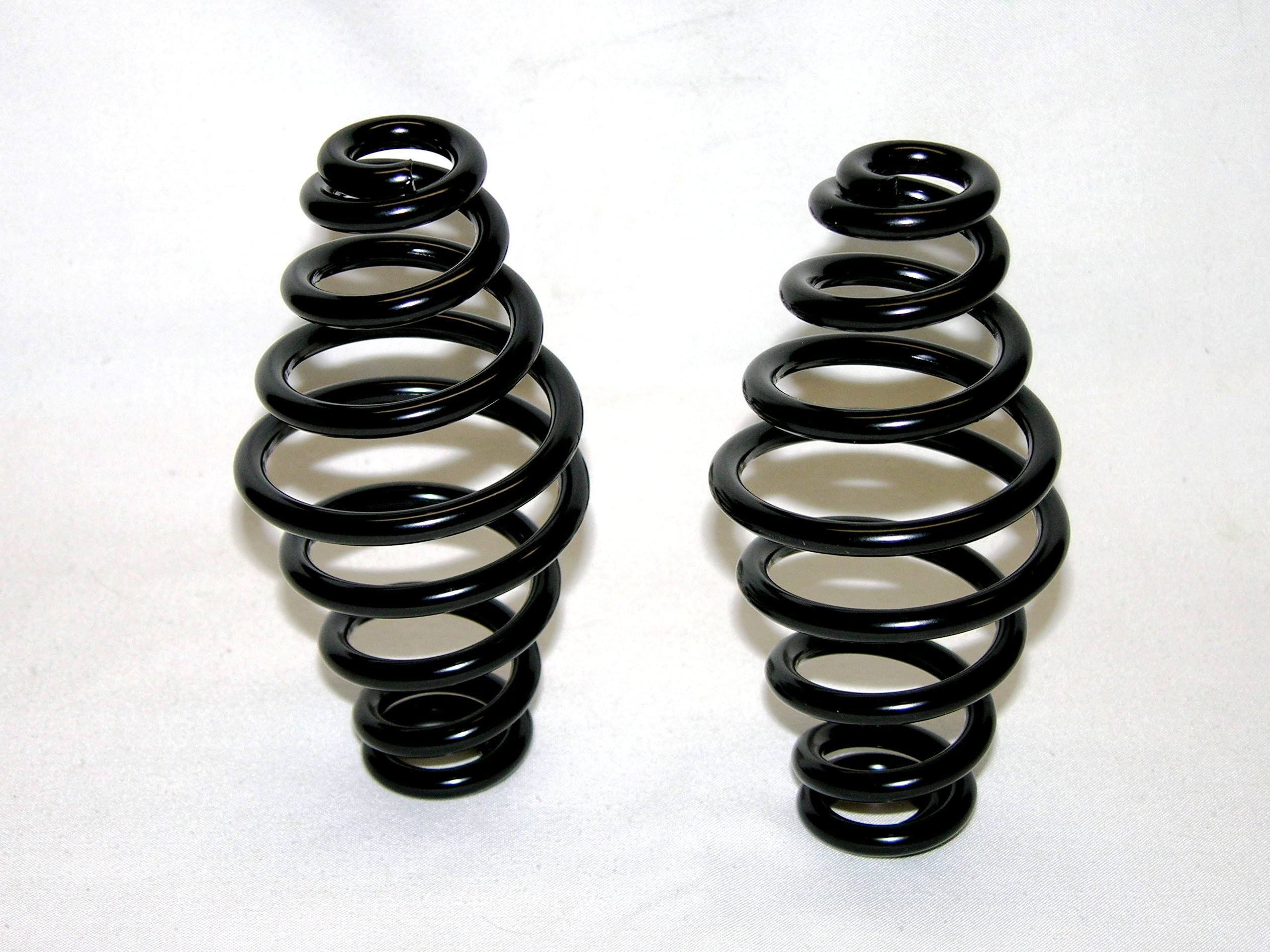 Mr Luckys Universal Fit Black Powder Coated 5 inch Solo Seat Springs for Harley, Bobber, Vintage, Retro, Custom.