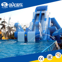 Outdoor used kids big inflatable pool water slide for sales