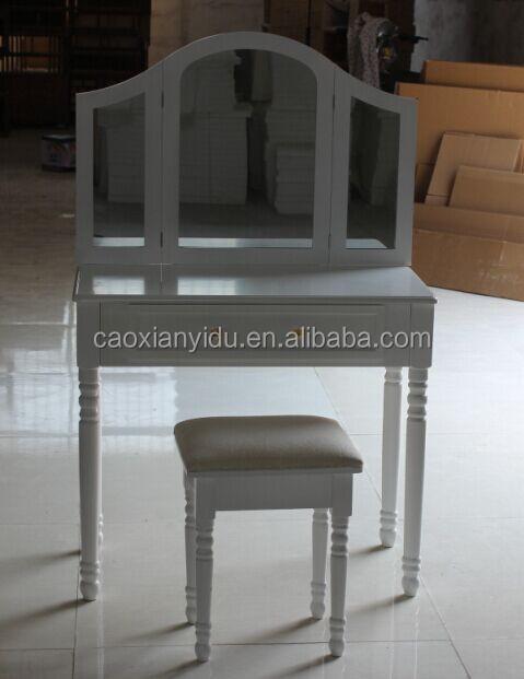 Triple spiegel kaptafel met kruk dressoirs product id 1840617587 - Dressoir met spiegel ...