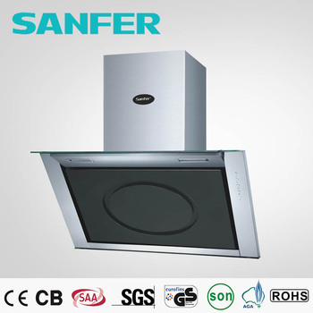 Round Black Glass Easy Clean And Switch For Kitchen Hood Prices ...