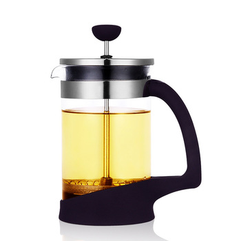 Supply 304 stainless steel french press glass coffee milk tea maker