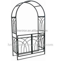 Buy Wrought iron garden arches with gate in China on Alibabacom