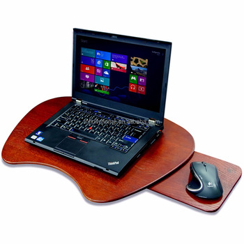 Large Recliner Solid Wood Laptop Lap Desk With Mouse Pad Product On