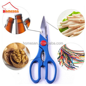 yangjiang wholesale professional stainless steel kitchen scissor, vegetables cutting plastic german scissors