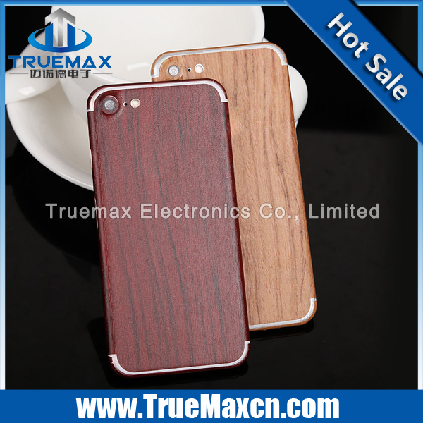 Tempered Glass for iPhone 7 Wood Grain Sticker, Full Cover Screen Protector for iPhone 7, 3D Tempered Glass for iPhone 7