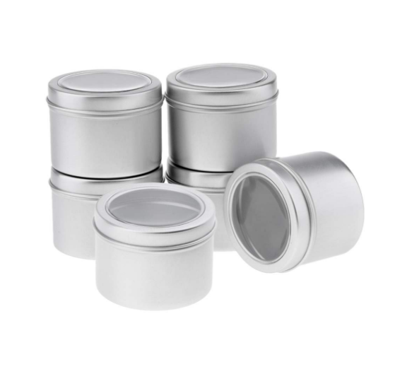 Small round metal tin box made in China metal boxes