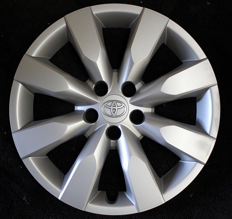 "2009-2013 TOYOTA COROLLA 15"" 8-spoke Hubcap Wheelcover Chrome Emblem 42621-02060 61147"
