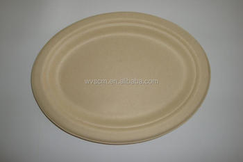 Eco friendly biodegradable disposable big size oval paper plates & Eco Friendly Biodegradable Disposable Big Size Oval Paper Plates ...